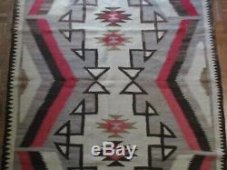 Antique Vintage Native American Indian Rug Blanket 76 By 50 Inches Navajo Art