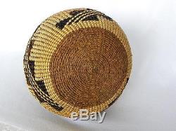 Antique Vintage Native American Indian basket Bottle Cal Pit River c 1900-1920s
