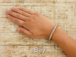Antique Vintage Native Navajo TAHE Sterling Silver Southwestern Cuff Bracelet