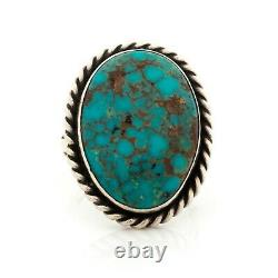 Antique Vintage Native Style Sterling Silver TAXCO Turquoise Ring Sz 6.25 8.1g