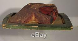 Antique Vintage Northwest Coast Indian Native American Carved Spotted Seal Leopa