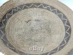 Antique / Vintage Serrano Mission Indian Basket Rattlesnake San Bernardino Ca