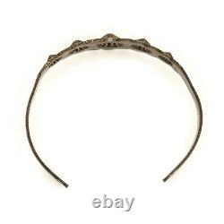 Antique Vintage Sterling Silver Native Navajo Floral Flower Cuff Bracelet 13.1g