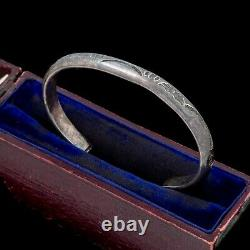 Antique Vintage Sterling Silver Native Navajo Hand Stamped Cuff Bracelet 20.6g