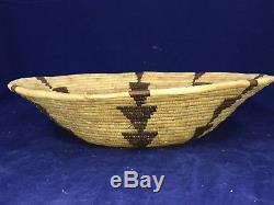 Antique Western California Native American Hupa/PapagoIndian Basket. 12 1/2 In