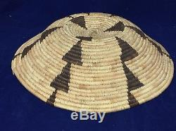Antique Western California Native American Hupa/PapagoIndian Basket. 12 1/2 In
