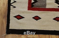 Antique Western Circa 1900 Native American Indian Wool Rug, No Reserve