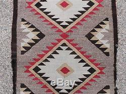 Antique Western c1920 Handmade Navajo Native American Indian Woven Wool Rug