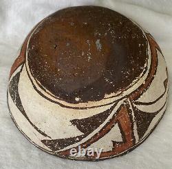 Antique Zuni Native American Southwest Pottery Bowl Polychrome Primitive