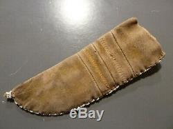 Antique native american indian sheath with sheffield skinner knife