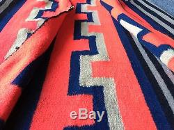 Auth 1920's Antique German Town Native American Indian Navajo Woman Blanket NR
