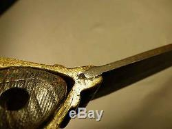 Authentic Lakota Sioux Pipe Tomahawk Brass Head Bowie Blade Ash Haft 1860 Weapon