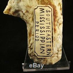 Authentic Native American Mound Builder Falcon Effigy Claw Mace Old Collection