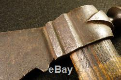 Authentic original 1850 Sioux Indian peace pipe tomahawk double weeping heart