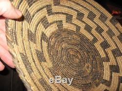 Big Antique Pima Storage Basket Native American Indian Southwest Fine Weave