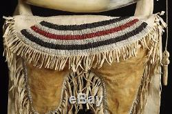 Bag with horn for gun powder and buckshots Pawnee tribe end of 19th C