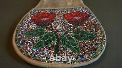 Beautiful 1920 40's Native American Yakama Beaded Bag Salt & Pepper Flower