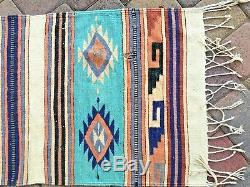 Beautiful Antique Native American Indian Carpet Blanket