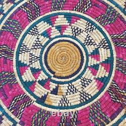 Beautiful Old Native American/African Coil Woven Wall Plate Decorative Tray