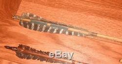 Ca. 1870 PLAINS INDIAN ARROWQUIVER SET 5 OUTSTANDING ARROW'S