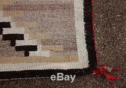 Circa 1900 Antique Western Native American Indian Navajo Woven Wool Rug
