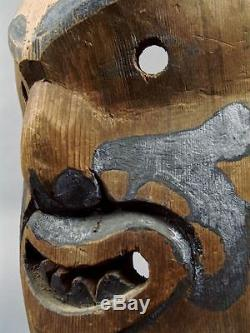 Circa 1900+/- DANCED POTLATCH BAN SECRET SOCIETY Mask Northwest KWAKWAKA'WAKW