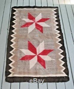 Dazzler Antique Navajo Native American Indian GANADO 27 X 43 Blanket RUG 1920s