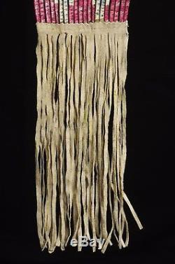 Deer hide beaded bag for sacred pipe Sioux Lakota, 1910-1930