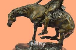 END OF THE TRAIL Statue Western Native American Indian Figure HotCast Bronze