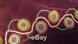 Estate Find Native American Indian Beaded Womans Cape Shawl