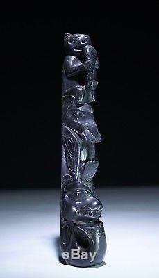 EX CHRISTIE'S Old Haida Totem Pole North West Coast Canada