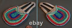 Early 1900 Native American Great Lakes Woodlands 2 Sided Beaded Puzzle Bag