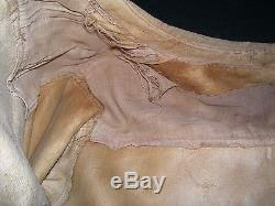 Early 1900s animal hide Native American Indian jacket with beaded decoration