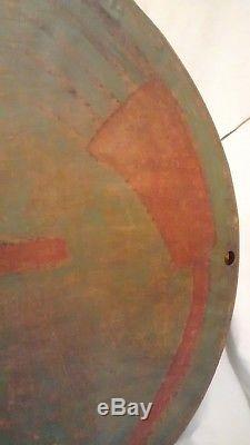 Early Antique Native American Comanche Indian Ceremonial War Battle Shield
