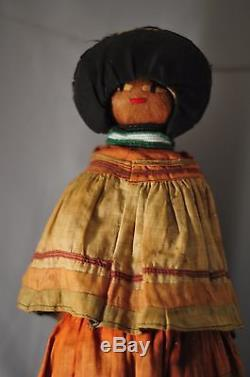 Early Antique Native American Seminole Indian Doll Museum Quality LARGE