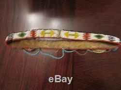 Elaborate Antique Beaded Native American Headband