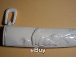 Eskimo Inuit Yupik (Chukchi) Siberia Bone Knife or Letter opener. Uelen arving