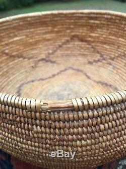 Estate Piece Antique California Indian Mission Basket Native American