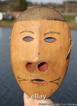 Fine Authentic Rare Alaskan Yupik Eskimo Dance Mask Circa 1900 #1