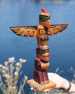 Fine Old Northwest Coast Kwakiutl Cedar Totem Pole Ellen Neel (1916-1966)#1