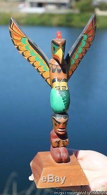 Fine Old Northwest Coast Kwakiutl Cedar Totem Pole Ellen Neel (1916-1966)#2