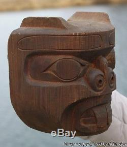 FINE OLD NORTHWEST COAST KWAKIUTL INDIAN BEAVER MASK DAVID MATILPI c1960