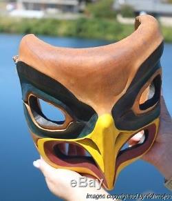 Fine Old Northwest Coast Salish Nootka Eagle Mask Stommish Indian