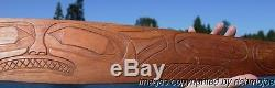FINE OLD NORTHWEST COAST TLINGIT INDIAN FULL SIZE CARVED CANOE PADDLE 19th C