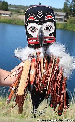 Fine Older Northwest Coast Complex Kwakiutl Indian Hamatsa Mask By Silas Coon