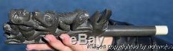 Fine Rare Old Northwest Coast Haida Argillite Pipe Circa 1880