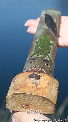 Fine Rare Old Northwest Coast Nootka Nuu-chah-nulth Indian Cedar Totem C1910 #2