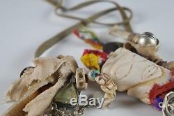 FORMER MUSEUM PIECE Early 20th c. Siberian Yupik Shaman Nanai Necklace INUIT
