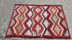 Fine Antique 1930's Navajo Eye dazzler Rug Arts and Crafts