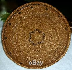 Fine Antique Large Northern California Native American Indian Basket 11 1/2